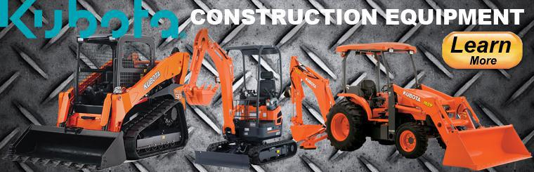 Great Plains Kubota offers Kubota construction equipment