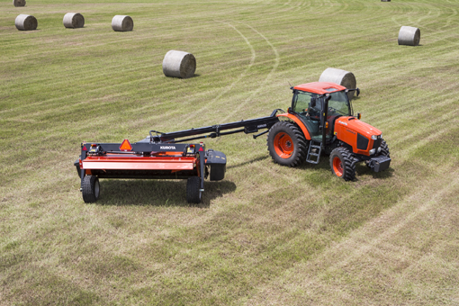 Bale Wrappers and Disc Mower Conditioners from Kubota Hay Tools