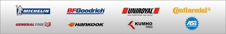 We proudly carry products by Michelin®, BFGoodrich®, Uniroyal®, Continental, General Tire, Hankook, and Kuhmo. We are ASE Certified.
