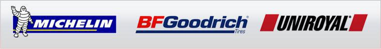 We proudly carry products by Michelin®, BFGoodrich®, and Uniroyal®.