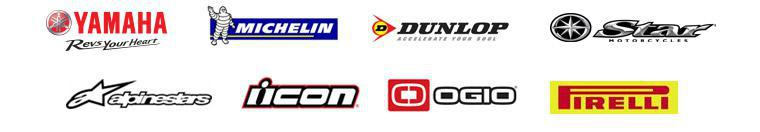 We carry products from Yamaha, Michelin®, Dunlop, Star Motorcycles, Alpinestars, Icon, OGIO, and Pirelli.