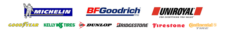 We are proud to feature products from Michelin®, BFGoodrich®, Uniroyal®, Goodyear, Kelly, Dunlop, Bridgestone, Firestone and Continental.