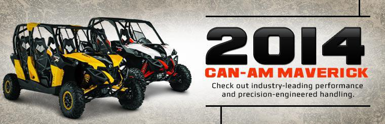 2014 Can-Am Maverick Side x Sides: Check out industry-leading performance and precision-engineered handling.