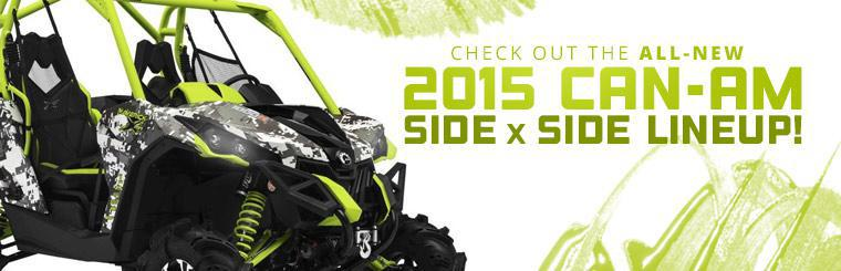 Check out the all-new 2015 Can-Am side x side lineup!