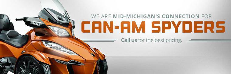 We are mid-Michigan's connection for Can-Am Spyders. Call us for the best pricing.