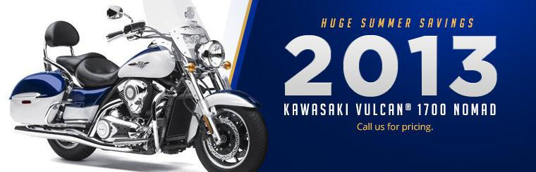 Click here to check out the 2013 Kawasaki Vulcan® 1700 Nomad™. Call us for pricing.