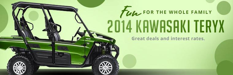 2014 Kawasaki Teryx is fun for the whole family! Click here for more details.