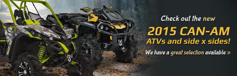 Check out the new 2015 Can-Am ATVs and side x sides!