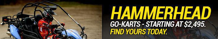 Hammerhead Go-Karts Start at $2,495: Find yours today.