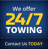 We offer 24/7 towing. Contact us today.