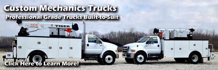 Custom Mechanics Trucks Onboard Crane Built to Suit Midwest