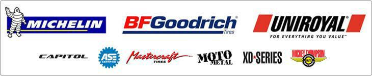 We carry products from Michelin®, BFGoodrich®, Uniroyal®, Capitol, Mastercraft, Motometal, XD Series, and Mickey Thompson. We are ASE certified.