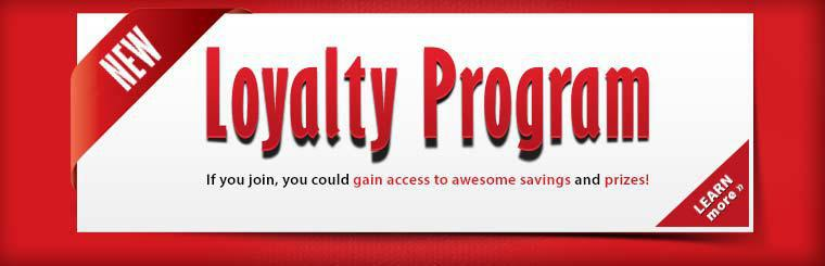 New Loyalty Program: If you join, you could gain access to awesome savings and prizes!