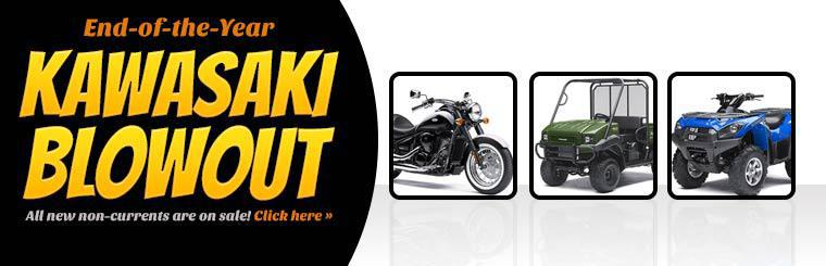 End-of-the-Year Kawasaki Blowout: All new non-currents are on sale! Click here to view the models.