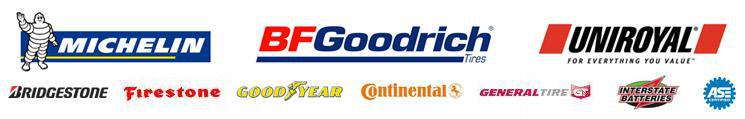 We proudly carry products from Michelin®, BFGoodrich®, Uniroyal®, Bridgestone, Firestone, Goodyear, Continental, and General. Interstate Batteries. ASE.