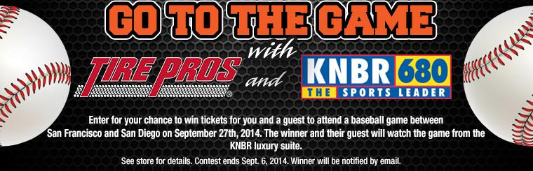 Go To the Game with Tire Pros and KNBR 680