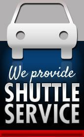 We provide shuttle service.