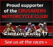Proud supporter of the Crusaders Motorcycle Club! See us at the races »
