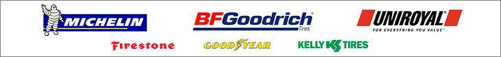 We carry product from Michelin®, BFGoodrich®, Uniroyal®, Firestone, Goodyear, and Kelly.