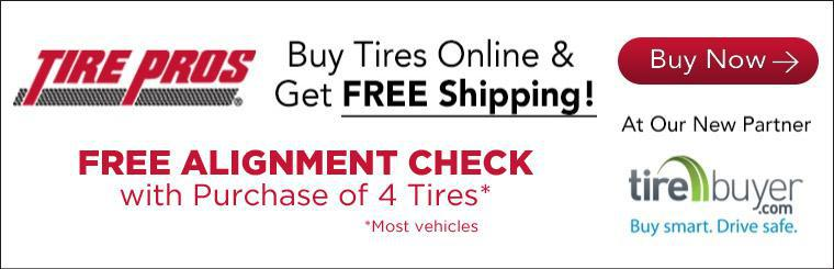Buy tires online and get free shipping!