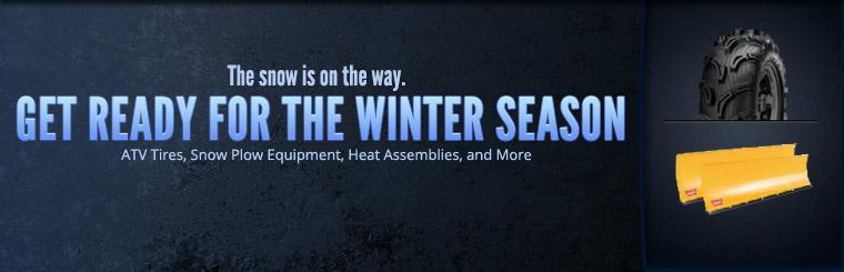 Get ready for the winter season with ATV tires, snow plow equipment, heat assemblies, and more.