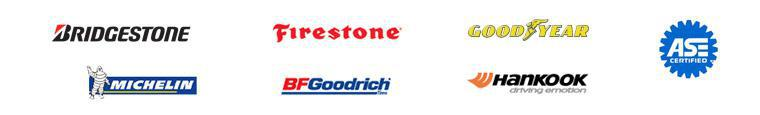 We proudly offer products from: Bridgestone, Firestone, Goodyear, ASE, Michelin®, BFGoodrich®, and Hankook.