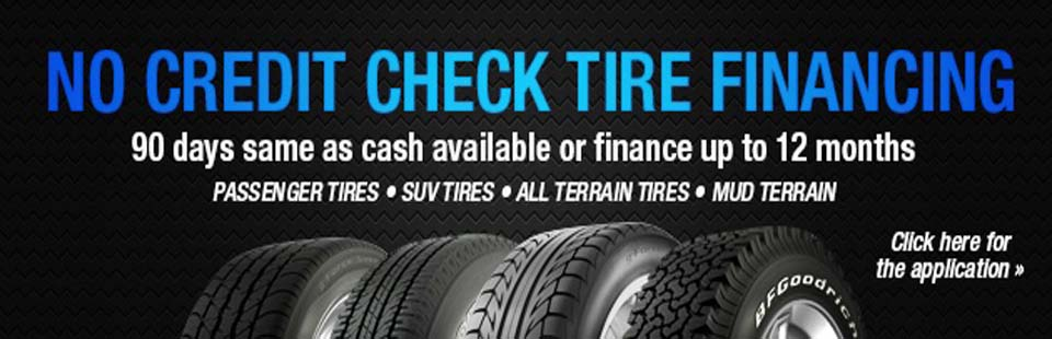 No Credit Check Financing For Tires