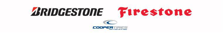 We carry products from Bridgestone, Firestone, and Cooper.