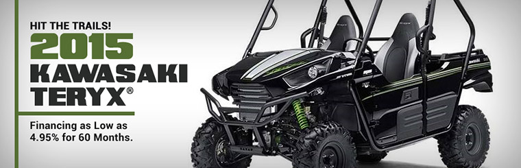 2015 Kawasaki Teryx®: Get financing as low as 4.95% for 60 months! Click here to view our showcase.