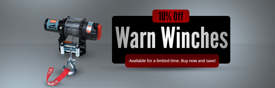 10% Off Warn Winches: Buy now and save!