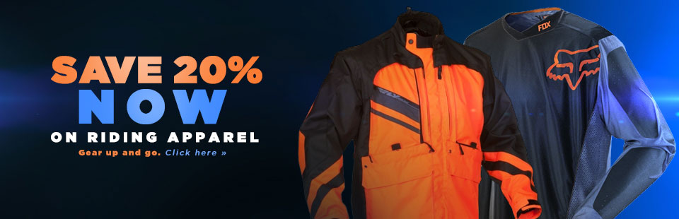 Save 20% Now on Riding Apparel: Click here to shop online.