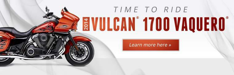 Click here to learn more about the 2014 Kawasaki Vulcan® 1700 Vaquero®.