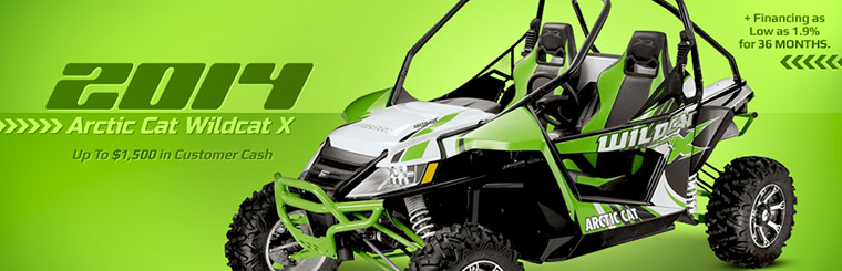 2014 Arctic Cat Wildcat X: Get up to $1,500 in customer cash and financing as low as 1.9% for 36 months! Click here for details.