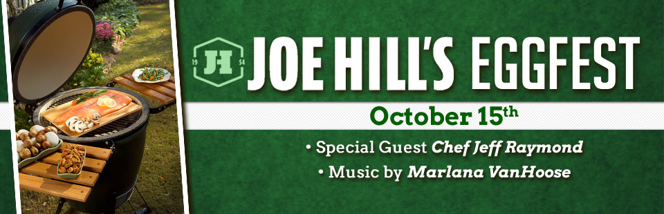 Join us October 15th for Joe Hill's EGGfest! Click here for details.