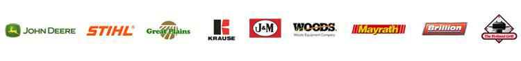 We proudly carry products from John Deere, Stihl, Great Plains, Krause, J & M, Woods, Mayrath, Brillion, and Holland Grill.