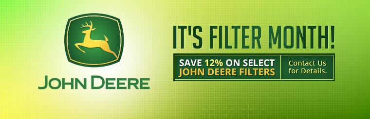 Save 12% on select John Deere filters! Contact us for details.