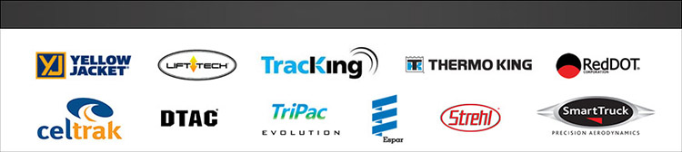 Yellow Jacket, Lift Tech, Tracking, Thermo King, RedDot, Celtrack, DTAC, TriPax, Espar, Strehl, and Smart Truck.