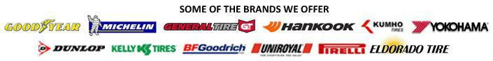 We carry products from Goodyear, Michelin®, General, Hankook, Kumho, Yokohama, Dunlop, Kelly, BFGoodrich®, Uniroyal®, Pirelli, and Eldorado.