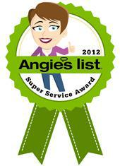 Angie's List 2012 Super Service Award.