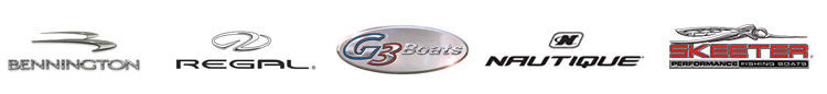 We carry products from Bennington, Regal, G-3 Boats, Nautique, and Skeeter.