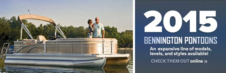2015 Bennington Pontoons are here! Visit our inventory online and come in to see them!