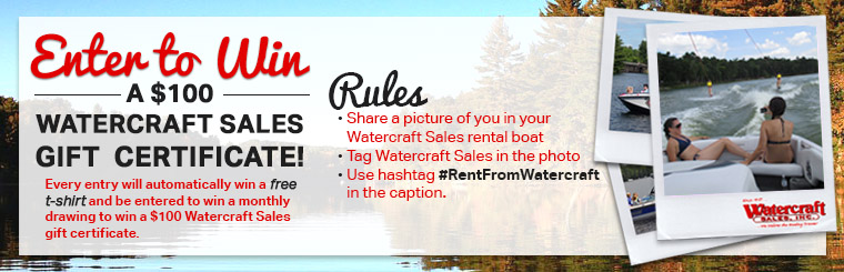 Enter to win our boat rental contest on Facebook!