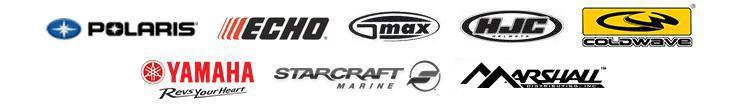 We proudly feature products from Polaris, ECHO, GMAX, HJC, ColdWave, Yamaha, Starcraft, and Marshall.