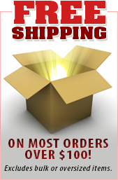 Free shipping on most orders over $100! Excludes bulk or oversized items.