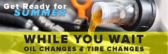Oil and Tire Changes While You Wait