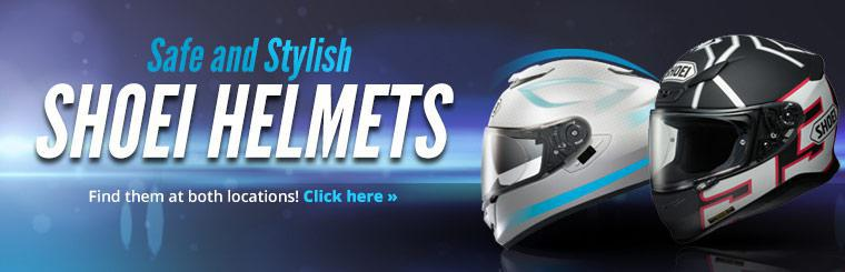 Click here to browse Shoei helmets online.