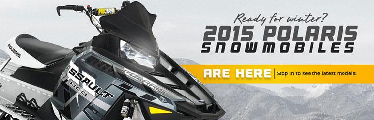 The 2015 Polaris snowmobiles are here! Stop in to see the latest models!