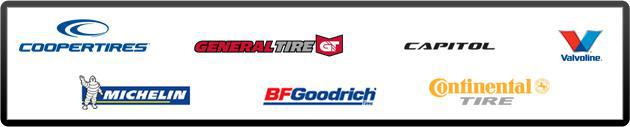 We carry Cooper, General, Capitol, Valvoline, Michelin®, BFGoodrich®, and Continental.