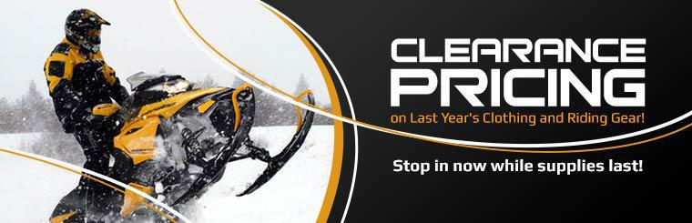 Take advantage of clearance pricing on last year's clothing and riding gear! Stop in now while supplies last!