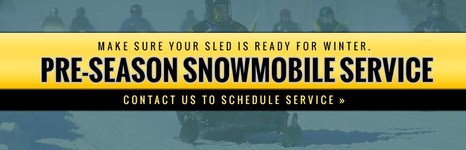 Pre-Season Snowmobile Service: Make sure your sled is ready for winter. Contact us to schedule service.